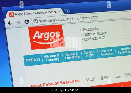 Argos website homepage screenshot - Stock Photo