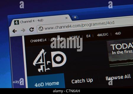 4OD website screenshot - Stock Photo