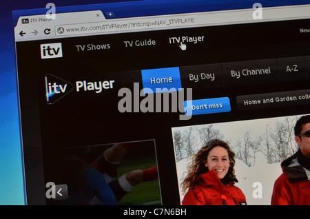 ITV Player website screenshot - Stock Photo