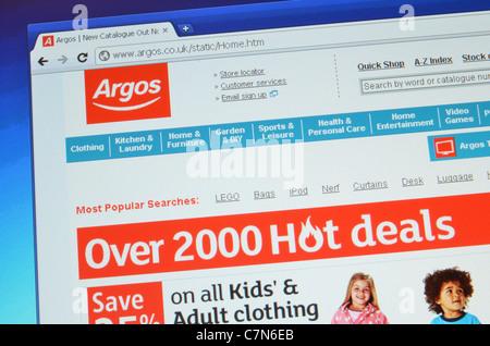 Argos website screenshot - Stock Photo