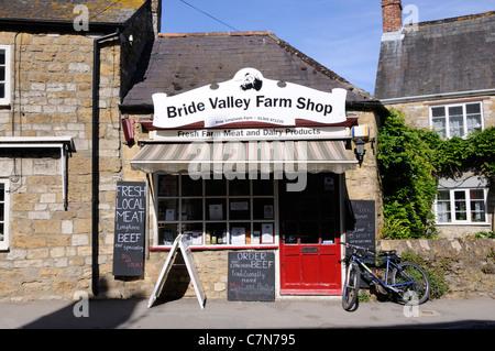 Bride Valley Farm Shop in Abbotsbury - Stock Photo