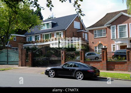 The Bishops Avenue, Barnet, London, England - Stock Photo