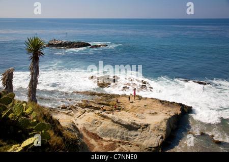 Laguna beach Rocks - CA - Stock Photo