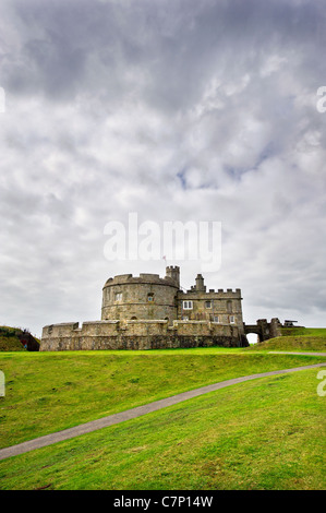 Pendennis Castle in n Falmouth Cornwall. - Stock Photo