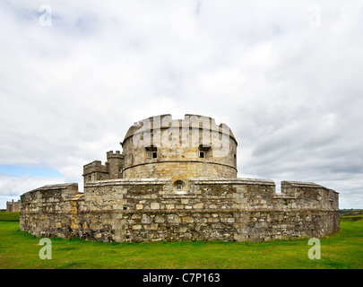 Pendennis Castle in Cornwall - Stock Photo