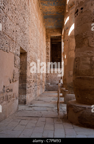 Medinet Habu Temple, Luxor, Egypt - Stock Photo