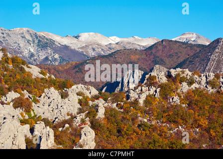 The most beautiful mountain in Croatia, mountain Velebit at fall. - Stock Photo