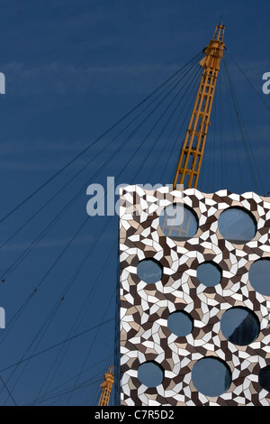 Buildings in North Greenwich, London, UK - Stock Photo