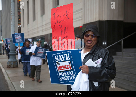 Postal Workers Rally to Save Six-Day Mail Delivery - Stock Photo