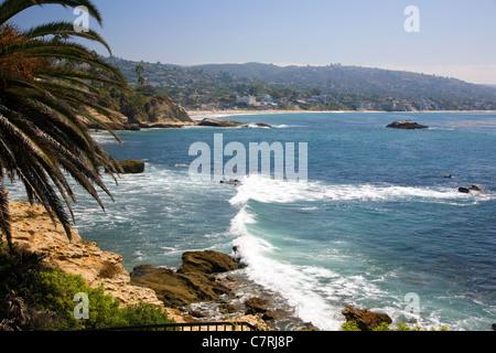 Laguna Beach viewed from Heisler Park - Stock Photo