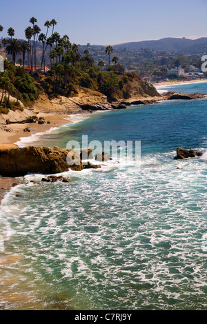 Laguna Beach viewed from Heisler Park - Stock Photo