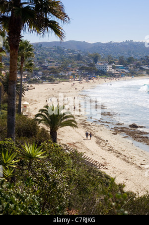 Laguna Main Beach viewed from Heisler Park - Stock Photo
