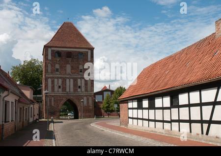Anklam Gate, Usedom , Baltic Sea, Mecklenburg-Vorpommern, Germany, Europe - Stock Photo