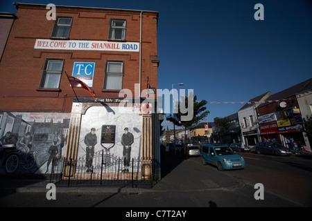 wall mural on the Shankill road, Belfast, Northern Ireland, UK. - Stock Photo