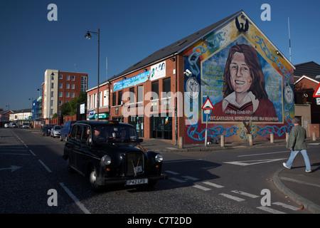 Sinn fein office and bobby sands mural falls road belfast for Bobby sands mural falls road