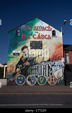 Republican murals falls road belfast stock photo royalty for Easter rising mural