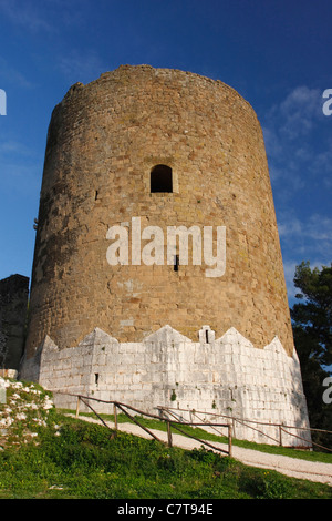 Italy, Campania, Caserta, tower of Caserta Vecchia - Stock Photo