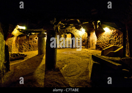 Italy, Lazio, Tuscania, Etruscan Necropolis, Tomb of Queen - Stock Photo