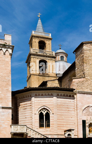 Italy, Umbria, Foligno, San Feliciano Cathedral - Stock Photo