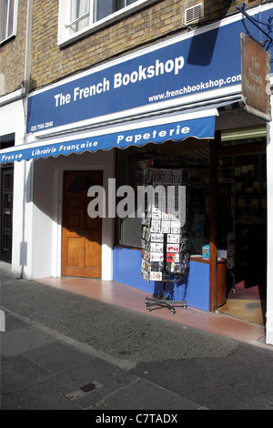 THE FRENCH BOOKSHOP, situated in Bute Street this shop services the local French community in South Kensington. - Stock Photo