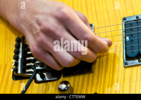 Playing bass guitar - Stock Photo