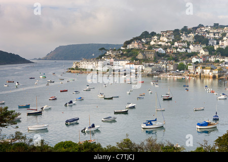 Salcombe and the Kingsbridge Estuary from Snapes Point, South Hams, Devon, England. Autumn (September) 2010. - Stock Photo