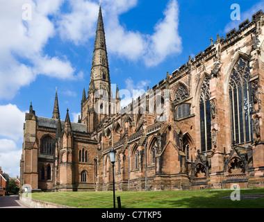 Lifchfield Cathedral, Lichfield, Staffordshire, England, UK - Stock Photo