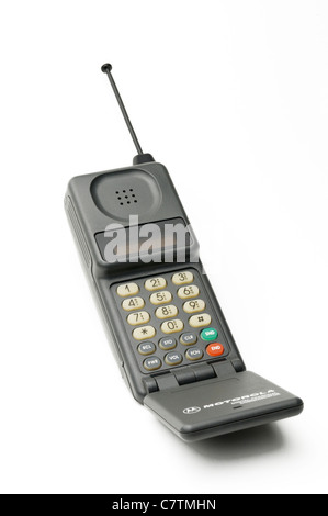 Old cell phone.  Motorola from around 1990 - Stock Photo
