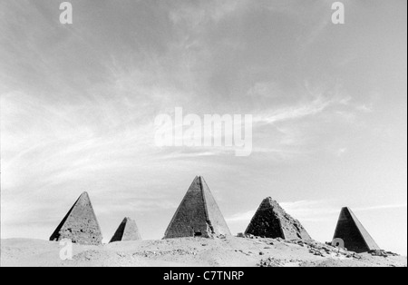 Africa, Sudan, Nubia, Karima, the ruins - Stock Photo