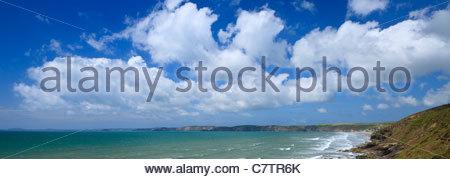 Newgale St Brides Bay St Davids Pembrokeshire Wales - Stock Photo