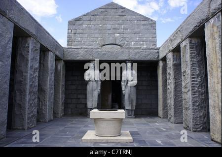 Mausoleum of Petar II Petrovic.Njegos, Jezerski vrh, Lovcen NP. Montenegro - Stock Photo
