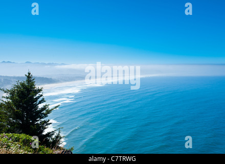 A great view off the Pacific Highway 101 south of Tillamook, Oregon. - Stock Photo