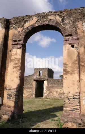Africa, Ethiopia, Gondar, Emperor Fasilidas castle - Stock Photo