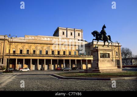 Italy, Piedmont, Novara, Piazza Martiri, teatro Coccia - Stock Photo