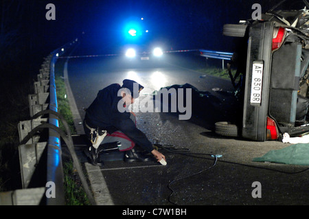 Italy, Traffic accident - Stock Photo