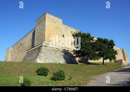 Italy, Basilicata, Avigliano, Castello di Lagopesole, Castle. - Stock Photo