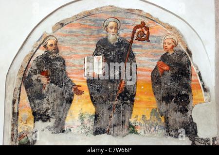 Italy, Campania, Capua, interiors of Sant'Angelo in Formis church - Stock Photo
