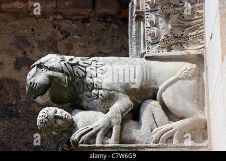 Italy, Campania, Caserta Vecchia, the Cathedral - Stock Photo