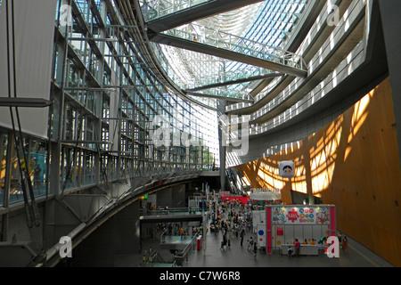 Japan, Honshu, Tokyo International Forum interior