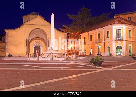 Italy, Campania, Benevento, Santa Sofia church - Stock Photo