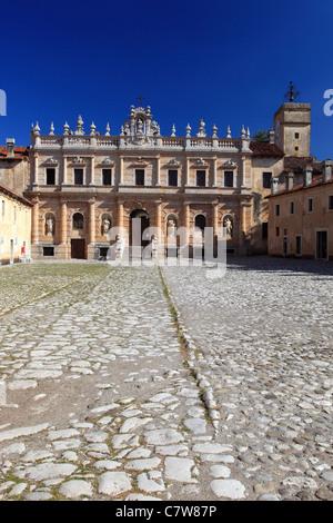 Italy, Campania, Padula, the Certosa of San Lorenzo - Stock Photo