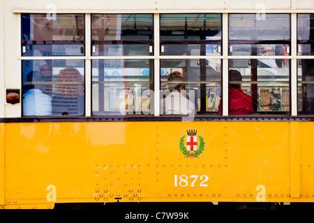 Italy, Lombardy, Milan, tram - Stock Photo