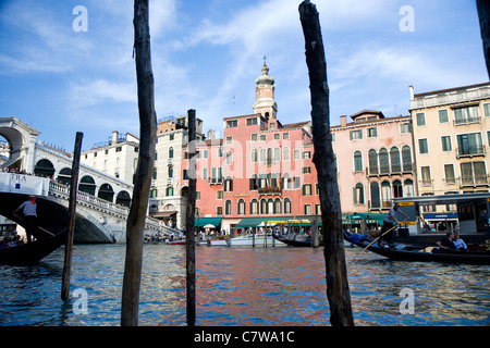 Buildings on the big canal of Venice, Italy - Stock Photo
