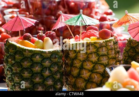 fruit cocktails - Stock Photo