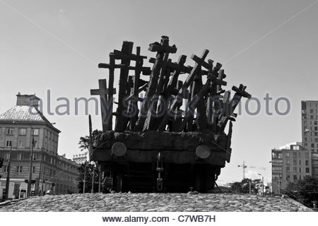 Monument for the fallen and murdered people in the east - Stock Photo