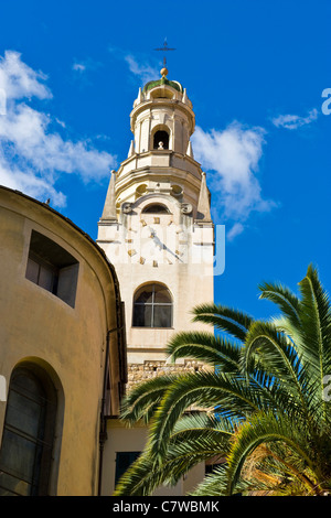 Italy, Liguria, Sanremo, San Siro belfry - Stock Photo
