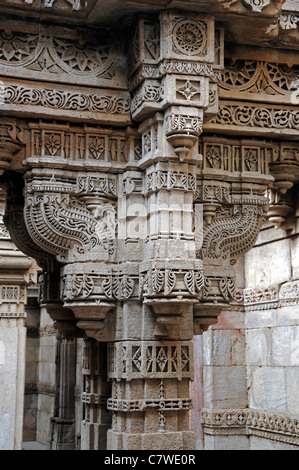 architectural detail exquisite exquisitely intricate intricately carved historic stone Adalaj Stepwell Ahmedabad - Stock Photo