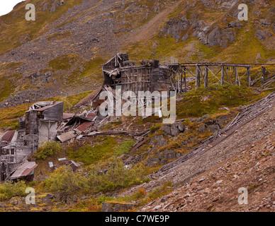 HATCHER PASS, ALASKA, USA - Independence Mine State Historical Park. - Stock Photo