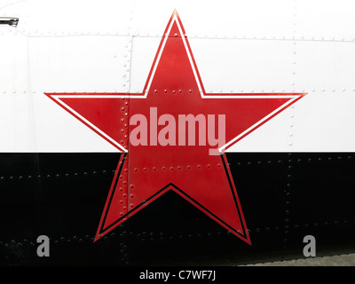 Communist Russian Red Star Painted On Side Of Vehicle Stock Photo