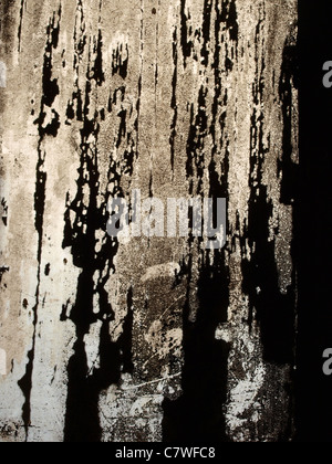 Grime covered windows in Völklinger Steel Works, Germany. - Stock Photo